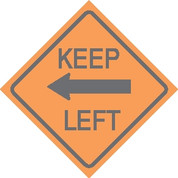 R7 KEEP LEFT 24X24 (SPL) CB *WHITE CARDBOARD*