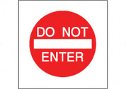 DO NOT ENTER - RED/WHT CB