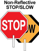 "18"" STOP/SLOW PADDLE - PLASTIC"