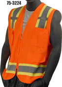 75-3224 ORANGE SOLID/MESH VEST