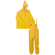 Three-Piece .35mm Yellow PVC/Polyurethane Rain Suit