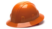ORANGE FULL BRIM HARD HAT - 6 PT RATCHET