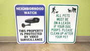Aluminum PRINT - Neighborhood Watch / Dog Sign