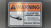 HELICOPTOR LANDING SIGN/ DROP ZONE CONE