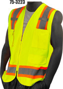 75-3223 YELLOW SOLID/MESH VEST