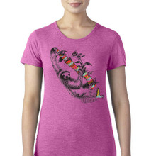 Sloth design on women's t shirt