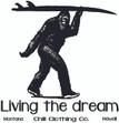 Sasquatch Surfer. Living the Dream. Design