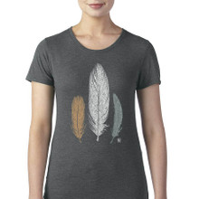 3 Feathers women's T Shirt heather gray