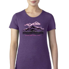 Whitefish Mountains women's T Shirt heather aubergine
