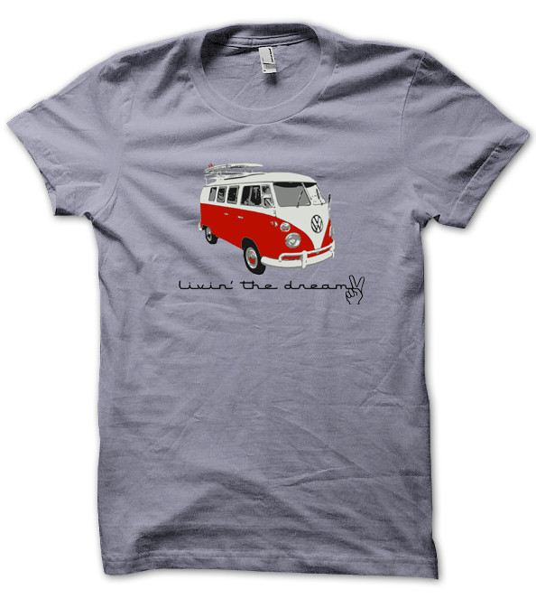 vw van living the dream men 39 s t shirt chill clothing co. Black Bedroom Furniture Sets. Home Design Ideas