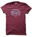 Montana Woodcut mens T shirt