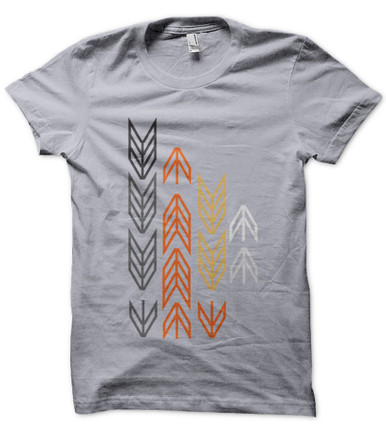 Arrows Geometric Design on mens T shirt