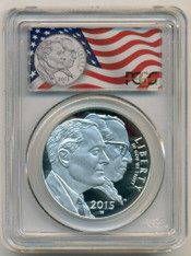 2015 W March of Dimes Commemorative Silver Dollar PR70 DCAM PCGS First Strike/Flag Label