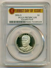 2016 S Gerald Ford Presidential Dollar PR70 DCAM PCGS FDI