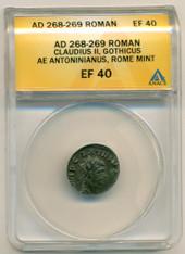 Roman Empire Claudius II Gothicus AD 268-269 AE Antoninianus EF40 ANACS