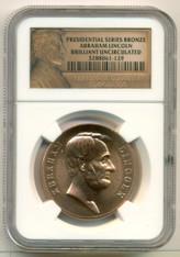 Abraham Lincoln Bronze Medal Undated BU NGC