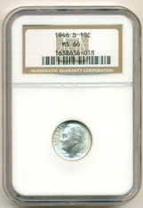 1946 D Roosevelt Dime MS66 NGC