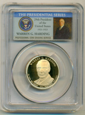 2014 S Warren G Harding Presidential Dollar PR70 DCAM PCGS Portrait Label