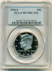 1996 S Clad Kennedy Half Dollar Proof PR70 DCAM PCGS