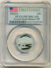 2014 S Clad Great Sand Dunes NP Quarter PR70 DCAM PCGS First Strike