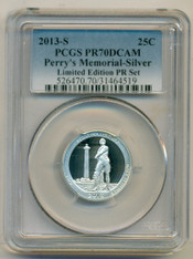 2013 S Silver Perry's Memorial ATB Quarter Proof PR70 DCAM PCGS LE