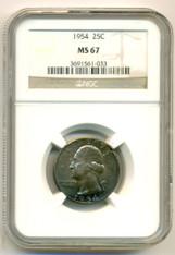 1954 Washington Quarter MS67 NGC