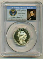 2010 S Franklin Pierce Presidential Dollar Proof PR70 DCAM PCGS Portrait Label
