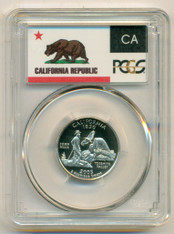 2005 S Clad California State Quarter Proof PR70 DCAM PCGS Flag Label