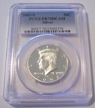 2002 S Silver Kennedy Half Dollar Proof PR70 DCAM PCGS