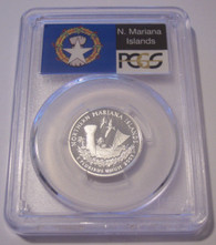 2009 S Silver Northern Mariana Islands Territories Quarter PR70 DCAM PCGS Flag Label