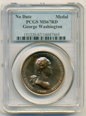 George Washington Bronze Medal No Date MS67 RED PCGS