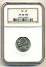 1941 Jefferson Nickel MS65 5FS NGC