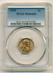 1935 Lincoln Wheat Cent MS66 RED PCGS