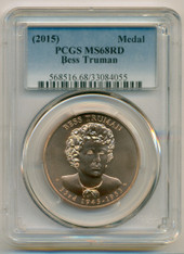 (2015) Bess Truman Bronze Medal MS68 RED PCGS