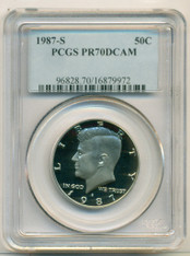 1987 S Kennedy Half Dollar PR70 DCAM PCGS Blue Label