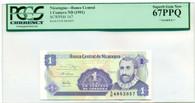 Nicaragua (1991) Centavo Sample Superb Gem New 67PPQ PCGS