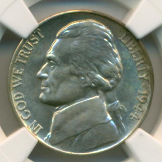 1944 D Silver Jefferson Nickel MS66 5 FS NGC