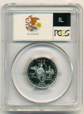 2003 S Clad Illinois State Quarter Proof PR70 DCAM PCGS Flag Label