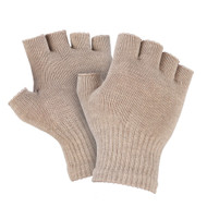 8% Silver Fingerless Gloves for Raynaud's