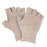 Silver Fingerless Gloves, Twin Pack