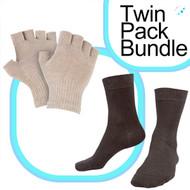 Fingerless Glove 8%/ Short Sock Bundle 9%