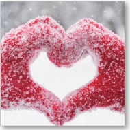 2016 SALE - Snowy Hands - Charity Christmas cards