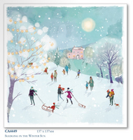 2017 Christmas Cards - Sledging in the Winter (10pk)
