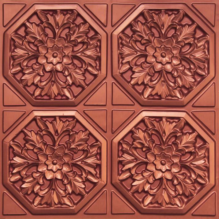 108 Copper Glue Up Decorative Ceiling Tile