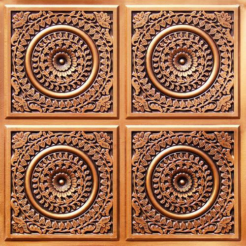 117 Antique Gold Glue Up Decorative Ceiling Tile