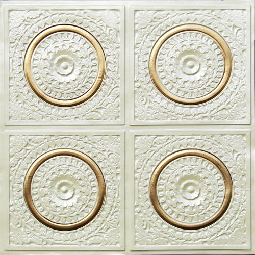 117 cream pearl gold glue up decorative ceiling tile - Decorative Ceiling Tiles
