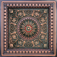 215 Antique Copper Patina Red Drop In Decorative Ceiling Tile