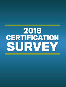 2016 WP Certification Survey (available for immediate download)