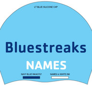 NJBL Silicone Team Caps with swimmer Name (set of 2)