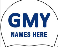 Silicone Team Caps with Swimmer Name (set of 2) -GMY